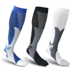 1 Pair Compression Socks Calf Sleeve Leg Support Brace 20-30