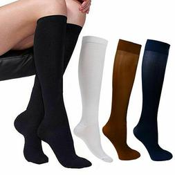 3 Pairs Compression Support Socks 15-20mmHg Graduated Relief