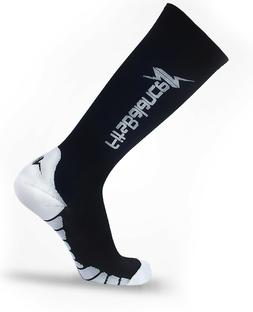6 Pairs Large Black Compression socks for Men & Women Fit fo