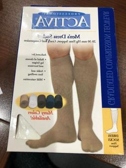 Activa Men's Dress Socks 20-30mmHg Compression Firm