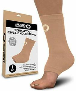 Ankle Brace Compression Support Sleeve  - BEST Ankle Compres