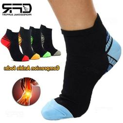 Ankle High Compression Socks Arch Running Support Plantar Fa
