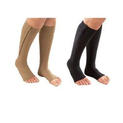 Black / Beige Easy-On Zippered Leg Support Fatigue Relief Co
