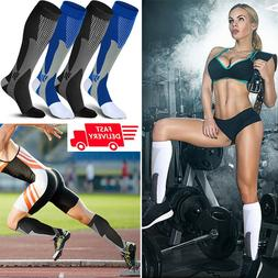 Calf Leg Running Compression Sleeve Socks Shin Splint Suppor