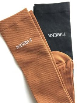 Compression Socks 2X Unisex Two Pack Copper Brown Black Free