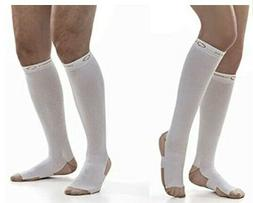 Copper Fit Compression Socks Large Extra Large L/XL White Co