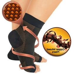 Copper Compression Ankle Socks Support Therapy Plantar Fasci