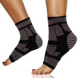 Copper Compression Foot Sleeves Plantar Fasciitis Brace Ankl