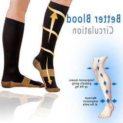 Copper Compression Socks 20-30mmHg Graduated Support Pain Re