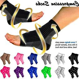 Copper Foot Compression Socks Arch Pain Plantar Fasciitis He