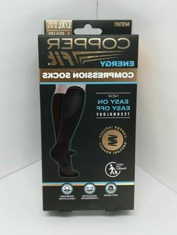 Copper Fit Energy Compression Socks-1 Pair Easy On/Off L/XL