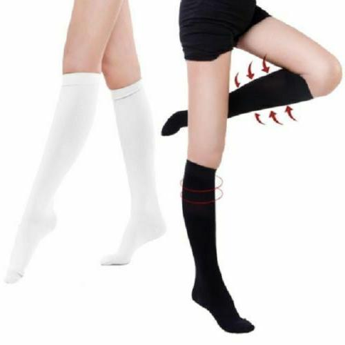 3 Pair Compression 15-20mmHg Graduated Support Socks Relief