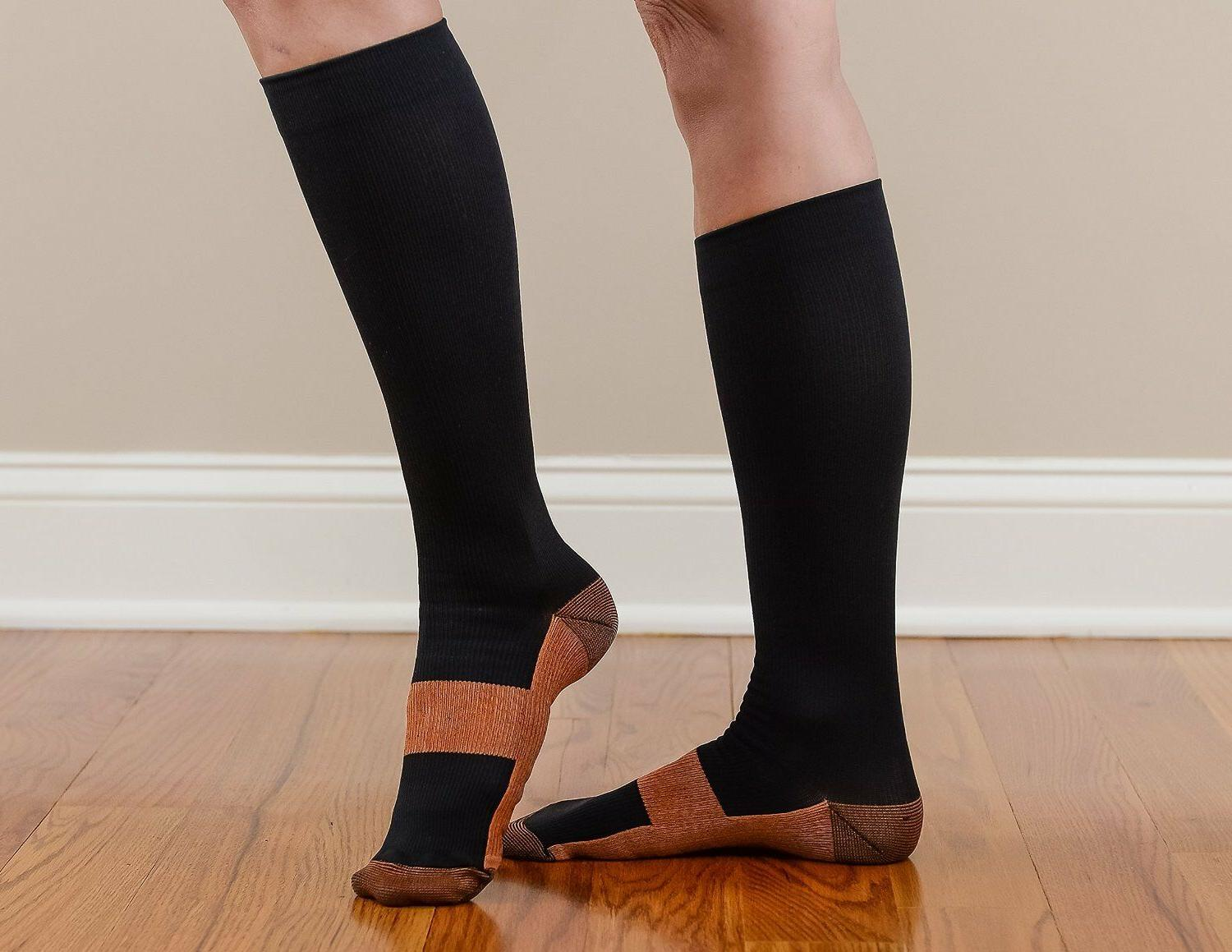 Copper Compression Socks 20-30mmHg Graduated S-XXL 3 Pairs