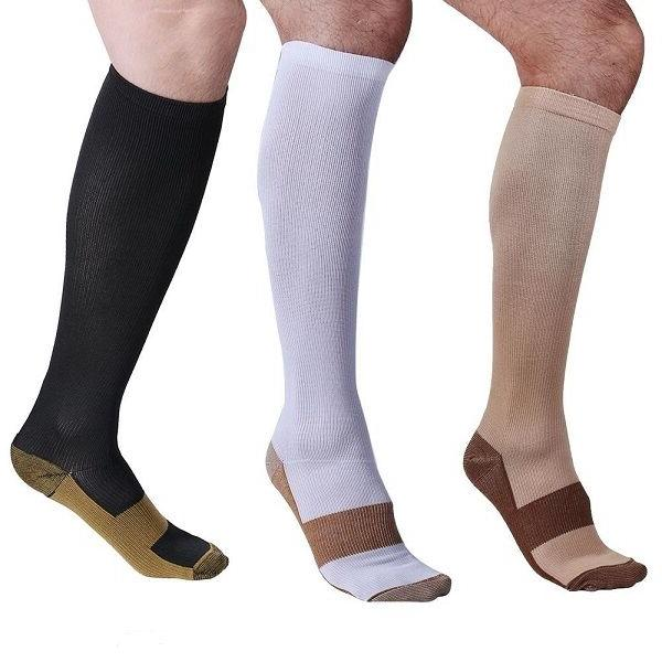 Copper Socks Graduated Support Men's Women's S-XXL