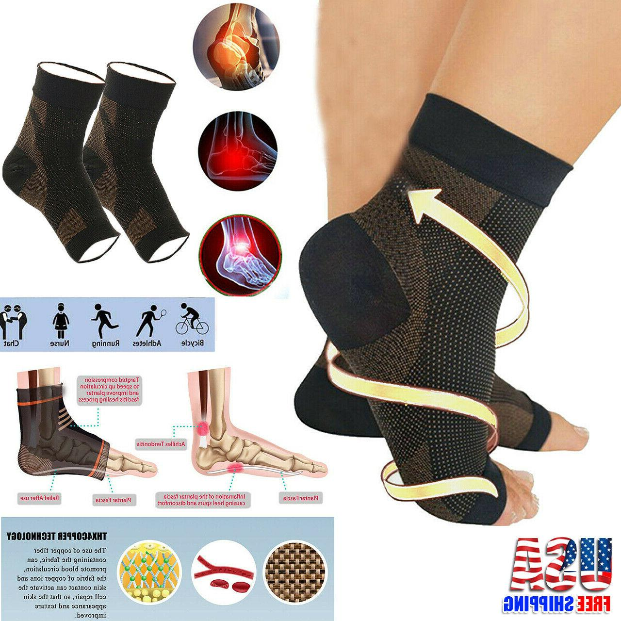 copper compression socks arch ankle running support