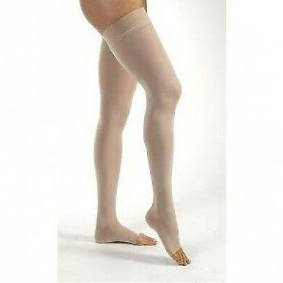 jobst relief thigh high compression stockings silicone
