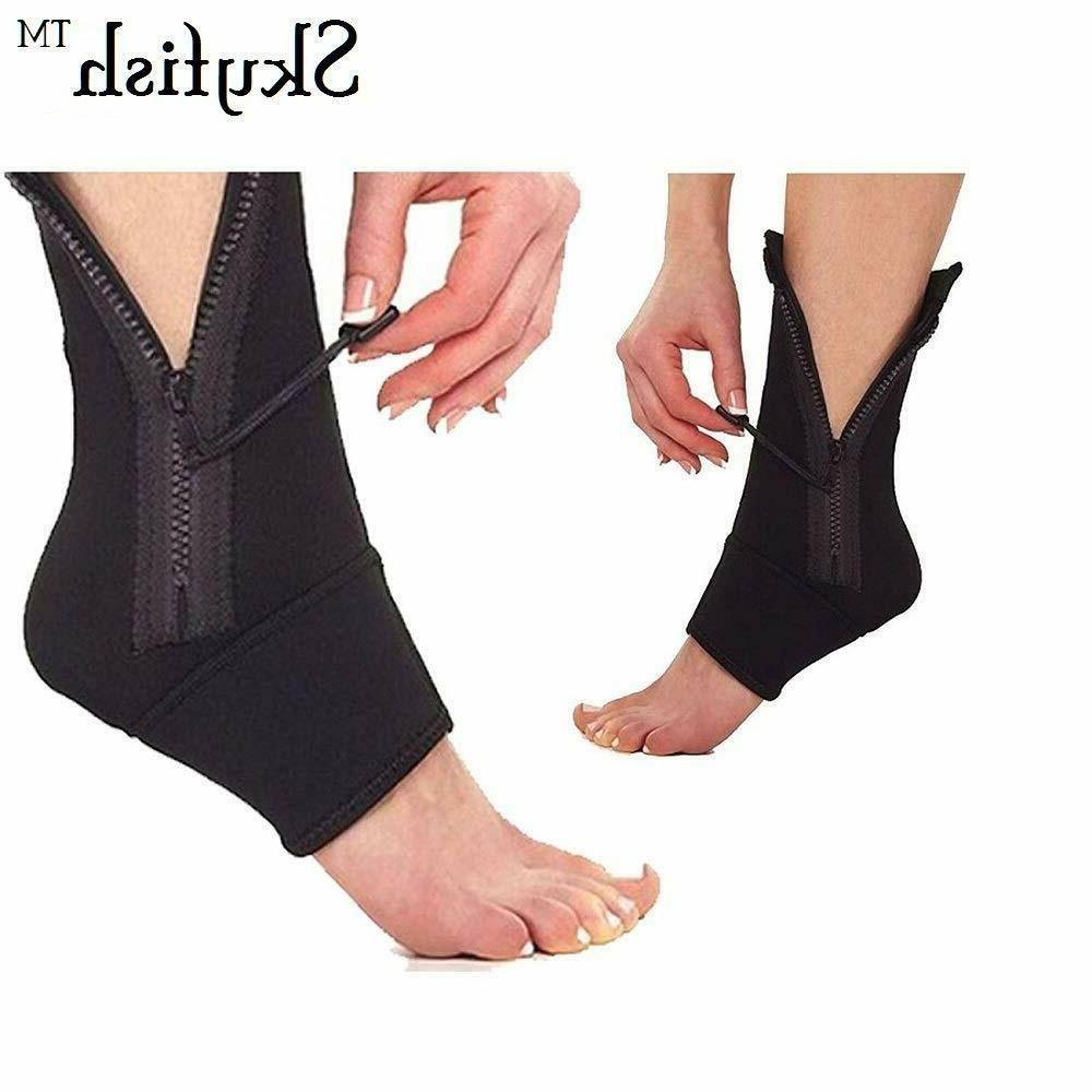 unisex fabric ankle and foot brace compression