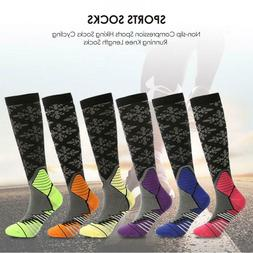 Men Non-slip Compression Outdoor Sports Hiking Socks Cycling