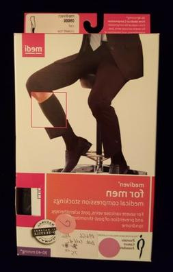 Mediven for Men Ribbed Knee High Extra Wide Calf 30-40 mmHg