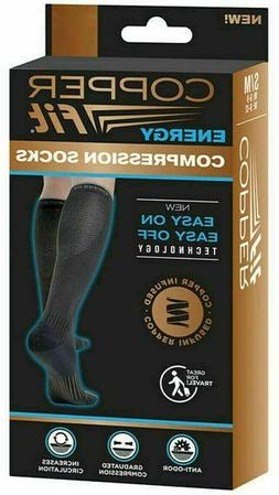 NEW 1 - Pair Copper Fit Energy Compression Socks Anti-Odor I