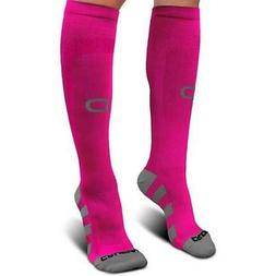 Crucial Premium Compression S/M Socks Men & Women Pink FAST