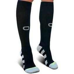 Crucial Premium Compression XXL Socks Men & Women Black FAST