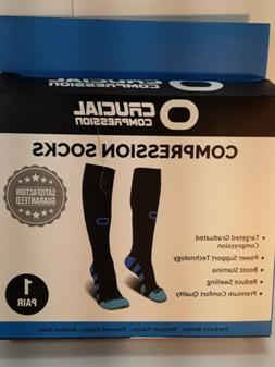 Crucial Compression Socks for Men & Women Size L/XL  Beige C
