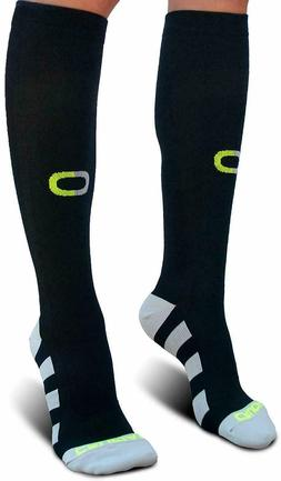 Crucial Compression Socks for Men Black and Gray Small/Mediu