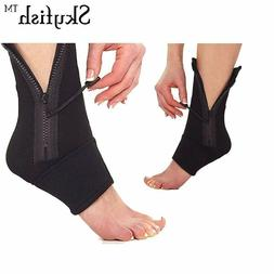 Unisex Fabric Ankle and Foot Brace Compression Protective Pa
