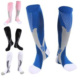 1 Pair Unisex Compression Wide Calf Knee-High Support Sports